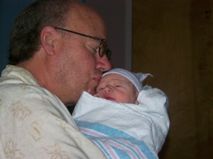Granpa John and baby Jonathan