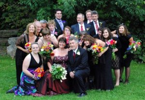 The Colourful Wedding Party